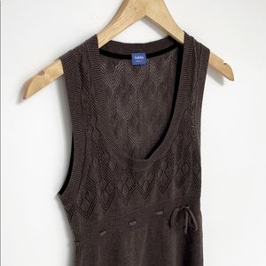 Aritzia Talula Knit Vest Style Sweater Brown XS